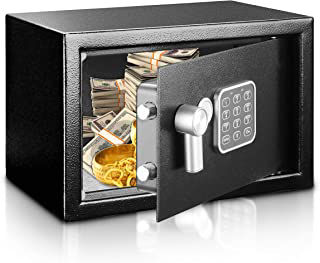 Piggy Pilot Silver and black electronic Safe